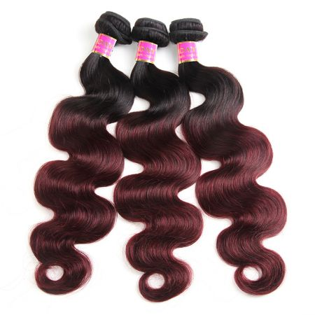 Today Only Hair Ombre Brazilian Body Wave Hair 1B/99j Virgin Human Hair Weave 3 Pieces Can Mix Any Length