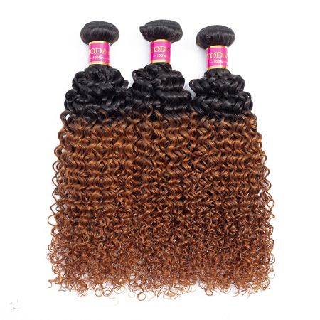 Today Only Hair Ombre Brazilian Kinky Curly Virgin Hair 1B/30 100% Human Hair Weave 3 Bundles