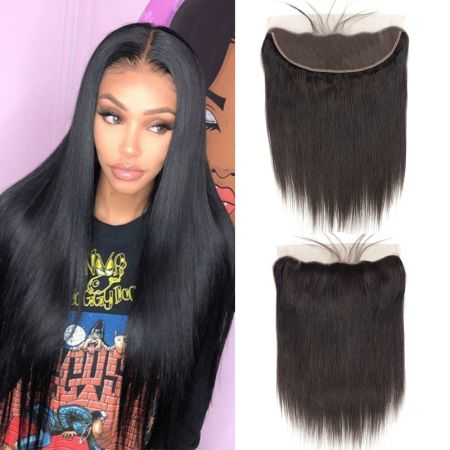 Today Only Hair Peruvian Virgin Hair Straight 13 * 4 Ear To Ear Lace Frontal With Baby Hair