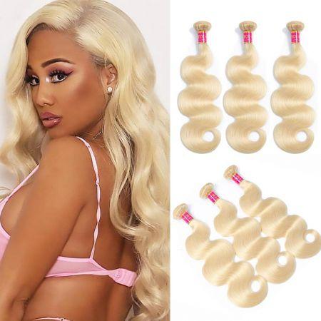 Andrecavasier Recommends Peruvian Body Wave Hair Bundles Weave 3 Bundles Blonde 613 Blonde Virgin 100% Human Hair Extensions