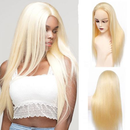 Todayonly Hair Andrecavasier Recommends Virgin Hair 613 Blonde Straight Lace Frontal Wigs Can be Dyed/Bleached