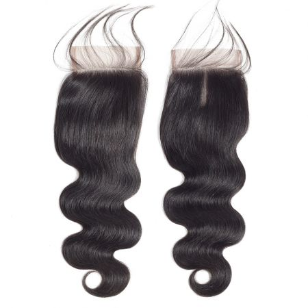Today Only Hair Brazilian Virgin Hair Body Wave Lace Closure 4*4 Swiss Lace With Baby Hair