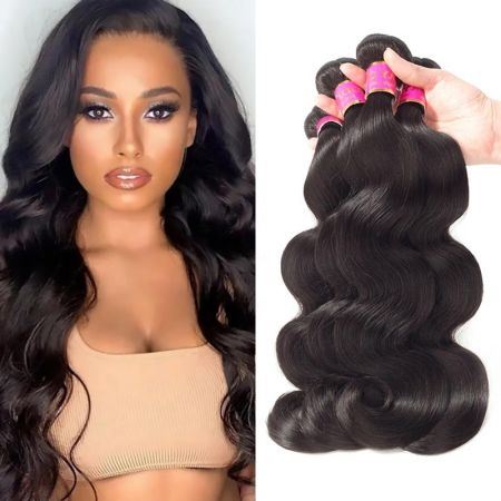 Today Only Hair Body Wave 3Bundles Human Hair Weave 100% Virgin Hair