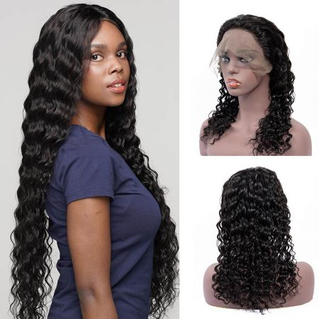 Today Only Hair Virgin Hair Deep Wave Lace Frontal Wigs 180% Density Human Hair