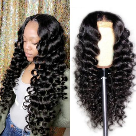 Today Only Hair 13x4 Pre Plucked Brazilian Loose Deep Wave Lace Front Human Hair Wigs 150 Density