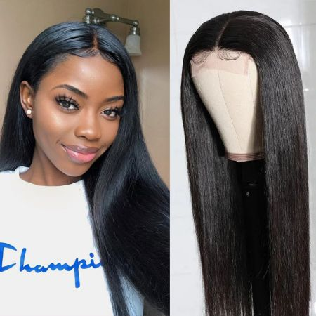 Today Only Hair Straight Lace Part Wig Virgin Human Hair Natural Color 150% Density Wig