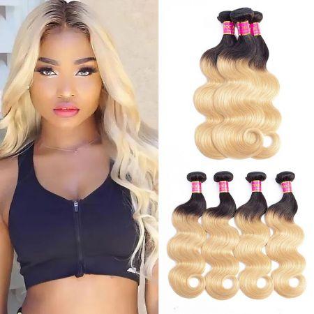 Today Only Hair Two Tone 1b 27 Brazilian Body Wave Bundles Ombre Human Virgin Hair 3 Bundles Hair Weave