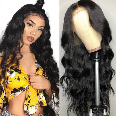 Today Only Body Wave Human Hair Lace Frontal Wigs Pre Plucked With Baby Hair Virgin Hair