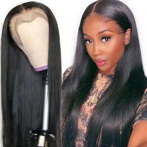 Today Only Hair 13x6 Lace Front Human Hair Wigs Brazilian Straight Pre Plucked Hairline Baby Hair
