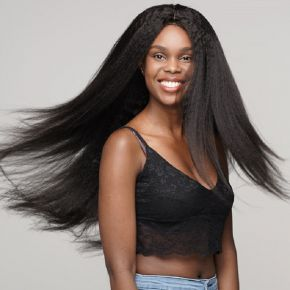 Todayonly Hair Kinky Straight Lace Front Human Hair Wigs Brazilian Virgin Yaki Lace Frontal Wig With Baby Hair