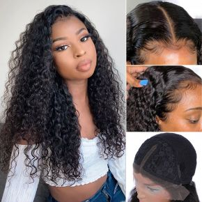 Todayonly Hair Curly Lace Part Wig 13X6 Virgin Human Hair Wigs Lace Wigs 130% 150% 180% Density