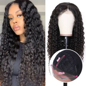 Todayonly Hair Natural Color Deep Wave Lace Part 13X6 Virgin Hair Brazilian Lace Wigs