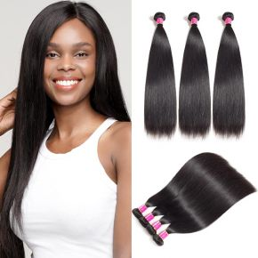 Today Only Hair Unprocessed Straight 3 Bundles Human Hair Only $29.9