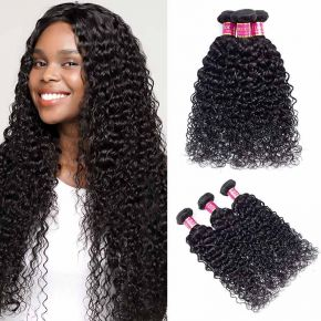 Today Only Hair Water Wave Brazilian Virgin Hair 3 Bundles Human Hair Weave Can Be Dyed and Bleach