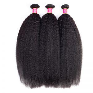 Today Only Hair Unprocessed Yaki Straight Brazilian Virgin Hair Weave Bundles Human Hair 3 Bundles Kinky Straight Hair Extensions