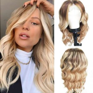 Todayonly hair Body Wave Hair Wig #4-27 Ombre Blonde Highlights Color 13x4 Virgin Hair