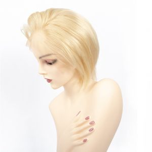 Today Only Hair Lace Frontal Blonde Wig 613 Short Human Hair Wigs Silky Straight Lace Frontal Wigs Full Lace Virgin Hair Wigs