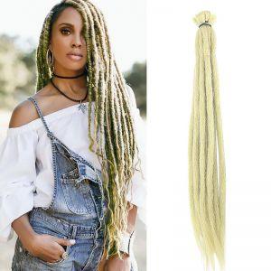 Today Only Hair 613 Blonde Handmade Synthetic Hair Crochet Braids Dreadlocks Locs Extensions