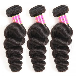 Today Only Hair Unprocessed Virgin Hair Loose Wave 3 Bundle Deals 100% Human Hair Loose Curl Extensions