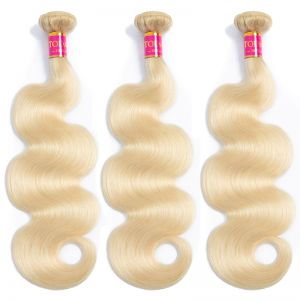 Andrecavasier Recommends Peruvian Body Wave Hair Bundles Weave 3 Bundles Blonde 613 Blonde Virgin 100% Human Hair Extensions