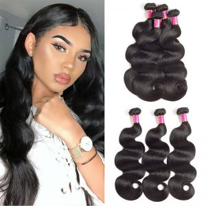 Today Only Hair Unprocessed Peruvian Virgin Hair Body Wave 3 Bundle Deals 100% Human Hair Extensions