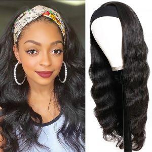Todayonly Hair Headband Glueless Body Wave Wig Human Hair Half Wig Multicolor Random