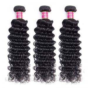 Today Only Hair Peruvian Virgin Hair Deep Wave 3 Bundle Cheap 100% Human Hair Weave Extensions