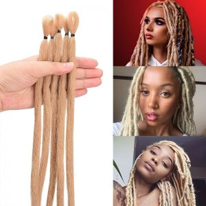Today Only Hair Sand Color Handmade Synthetic Hair Extensions Crochet Braids Dreadlocks Locs