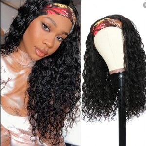 Todayonly Hair Glueless Headband Water Wave Virgin Hair Half Wig Headband Multicolor Random