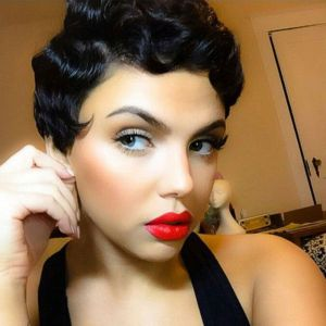 Todayonly Hair Curly Bob Short Bob Wig Full Lace Human Hair Pixie Cut