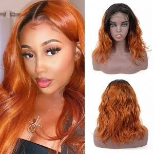 Today Only Bob Wig Body Wave Short Human Hair Wigs For Black Women Ombre 1b/30 Virgin Hair Wig Blonde Lace Frontal Wig