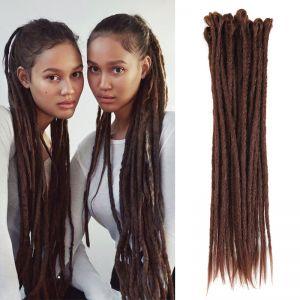 Today Only Hair Chocolate Color Synthetic Hair Locs Handmade Crochet Braids Dreadlocks