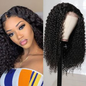 Today Only Hair Jerry Curly Lace Part Wig 100% Virgin Human Hair Natural Color Curly Wig