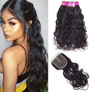 Today Only Hair Malaysian Virgin Hair Natural Wave 3 Bundles With Lace Closure Malaysian Natural Weave With Closure