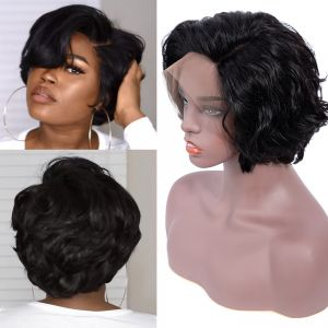 Today Only Hair Bob Short Human Hair Wigs Natural Wave Lace Frontal Wigs For Black Women Full Lace Human Hair Wigs
