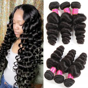 Today Only Hair Peruvian Loose Wave Hair Bundles 4 Bundles Human Hair Extensions