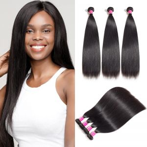 Today Only Hair Unprocessed Straight Virgin Hair 100% Human Hair Weave 3 Bundles Straight Hair Extensions