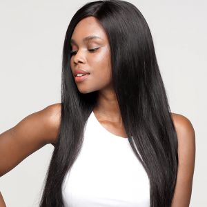 Today Only Hair 10A Brazilian Straight Human Hair Lace Closure Wigs Natural Color Virgin Hair