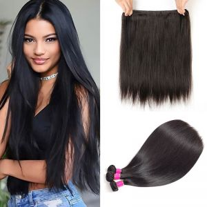Today Only Hair Peruvian Virgin Hair Straight 4 Bundle Deals Unprocessed Human Hair Weave