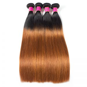 Today Only Hair 1b/30 Brazilian Virgin Hair Straight Hair Extensions 4 Bundle Deals Ombre Hair Weave
