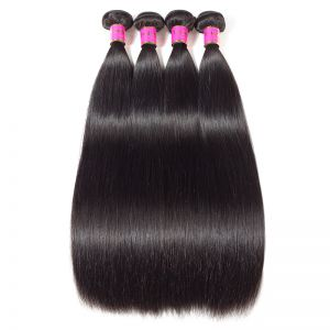 Today Only Hair Peruvian Virgin Hair Straight 4 Bundle Deals Unprocessed Human Hair Weave