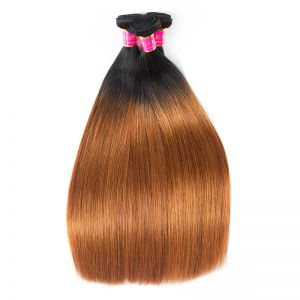 Today Only Hair Ombre Peruvian Straight Hair Bundles 1B/30 Virgin Human Hair Weave 3 Pieces Can Mix Any Length