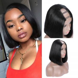 Today Only Hair Straight U Part Bob Wig Middle Part 220 Density 8-14 Inch