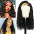 Todayonly Hair Glueless Headband Water Wave Virgin Hair Half Wig Headband Multicolor Random