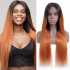 Today Only Hair 10A Ombre 1b/30 Brazilian Straight Wigs Lace Closure Human Hair Wigs For Black Women Virgin Hair Straight Wigs