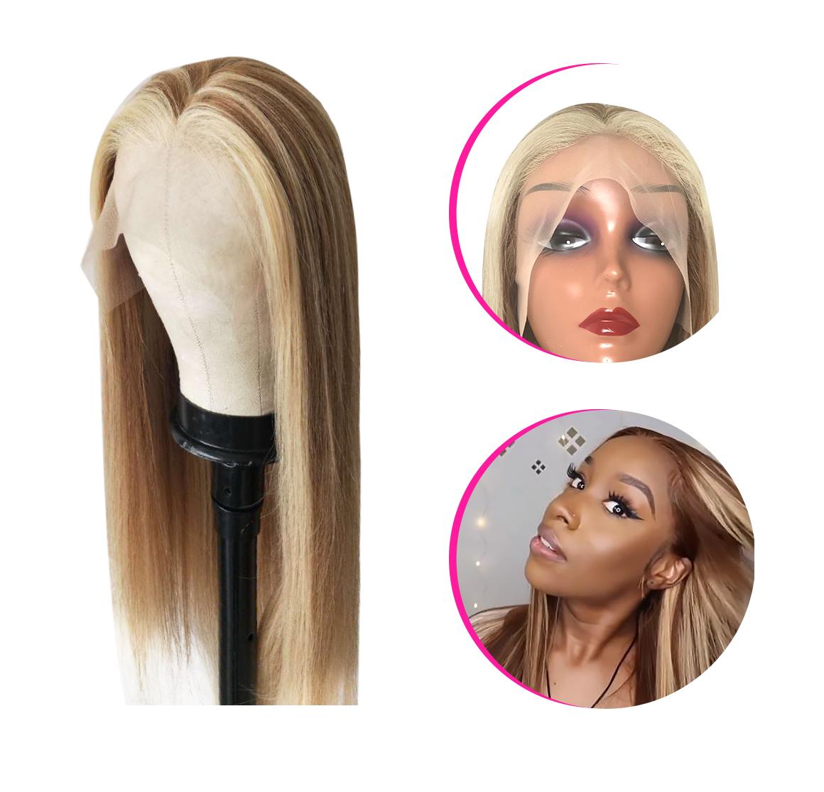 highlight color hair wig