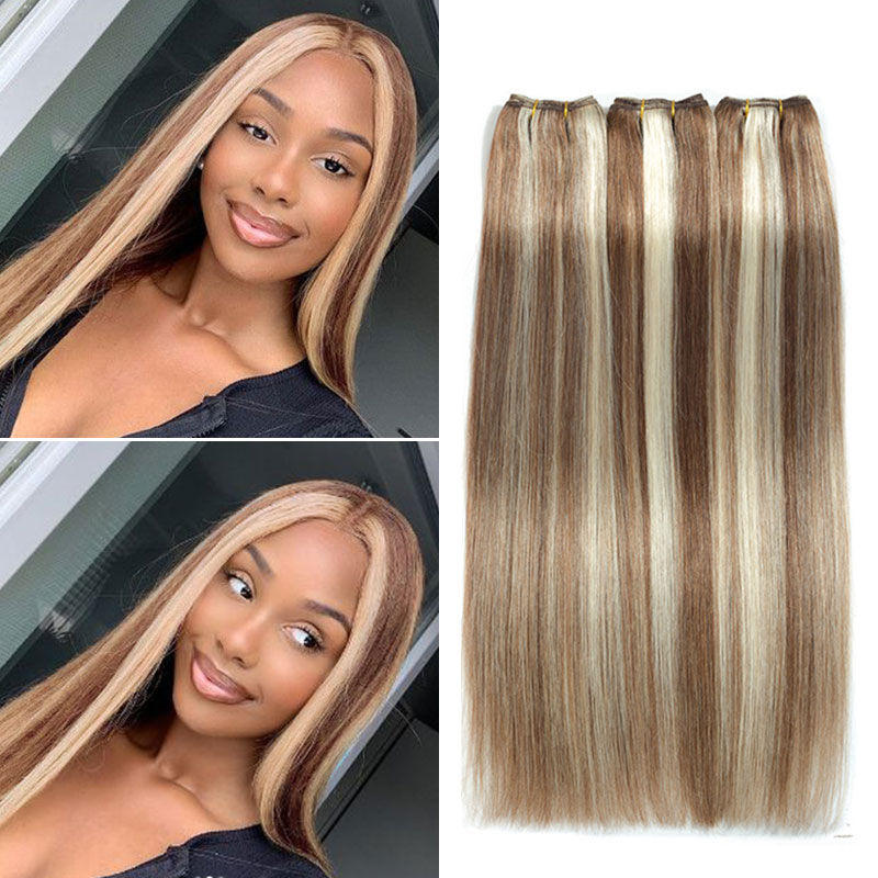 highlight color hair weave
