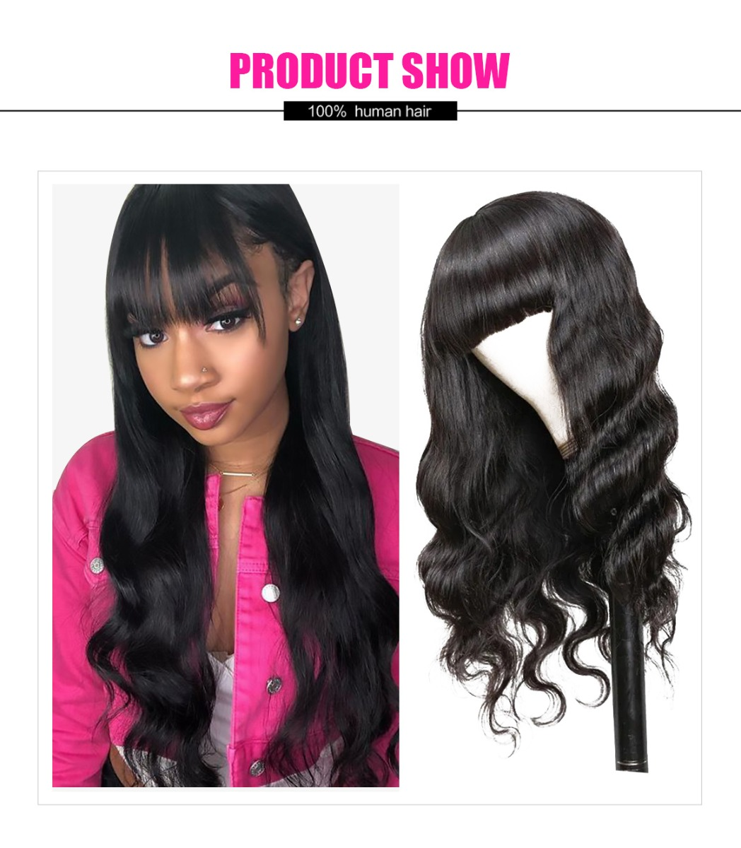Machine Made Body Wave With Bangs