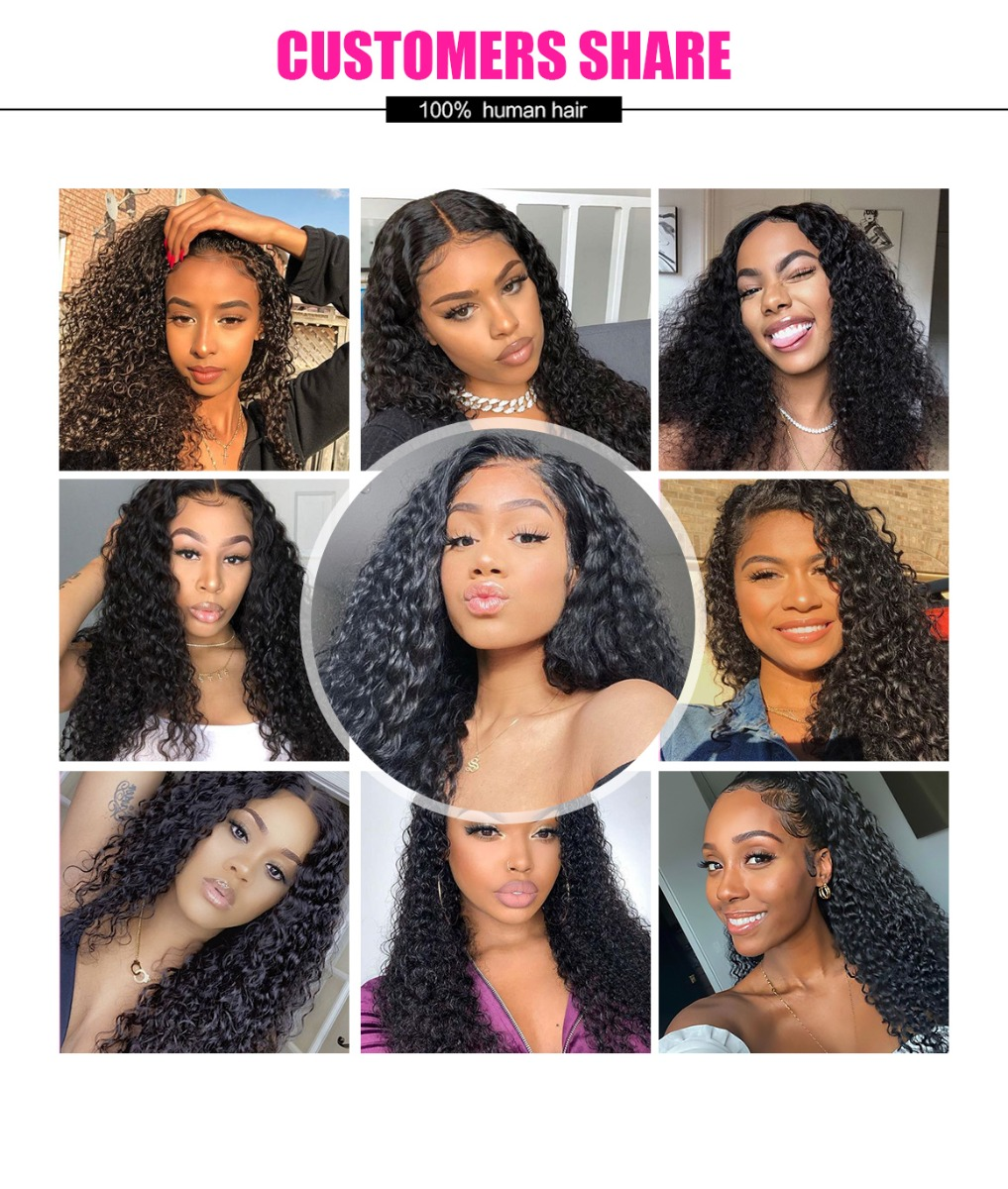 curly wave lace part wig