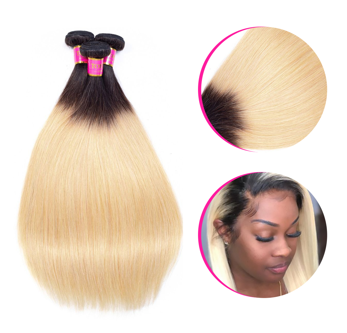 Ombre Straight Hair 4Bundles